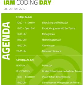 IAM Coding Day Agenda